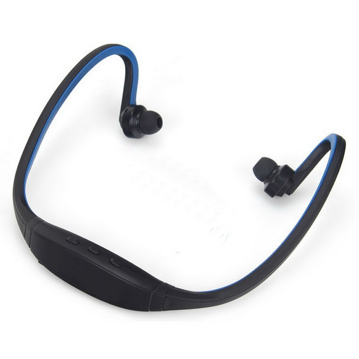 Bluetooth V4.0 Stereo Neckband Sports Earphone w/ TF Slot - BlueHeadphones<br>Form  ColorBlack + BlueModelBS19CMaterialABSQuantity1 DX.PCM.Model.AttributeModel.UnitShade Of ColorBlackEar CouplingNeckbandBluetooth VersionBluetooth V4.0Operating Range10mRadio TunerYesMicrophoneYesSupports MusicYesConnects Two Phones SimultaneouslyYesApplicable ProductsUniversal,IPHONE 6. 6S/6plus......????????????????)Built-in Battery Capacity 130 DX.PCM.Model.AttributeModel.UnitBattery TypeLi-polymer batteryTalk Time5 DX.PCM.Model.AttributeModel.UnitStandby Time100 DX.PCM.Model.AttributeModel.UnitPower AdapterUSBBrandCwxuanConnectionBluetoothHeadphone StyleBilateral,In-Ear,Neckband,BluetoothWaterproof LevelIPX0 (Not Protected)Headphone FeaturesPhone Control,Volume Control,With Microphone,Portable,For Sports &amp; ExerciseSupport Memory CardYesMemory Card SlotStandard TF CardMax. Memory Supported32GBSupport Apt-XNoPacking List1 * Earphone1 * USB Charging Cable (45+/-2cm)<br>