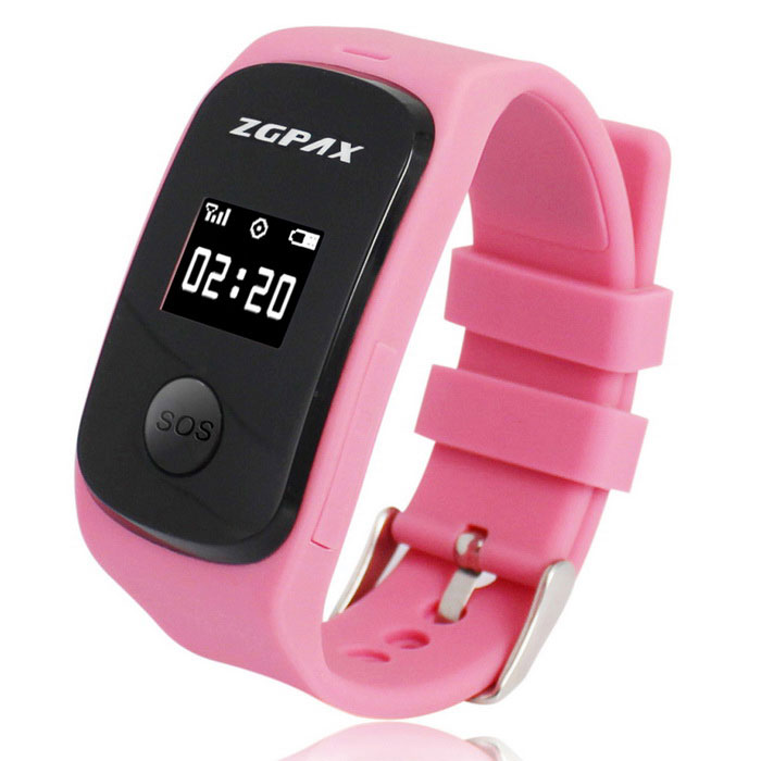 ZGPAX S22 SOS Kid's GPS Tracking Phone Tracking Online Watch - Pink