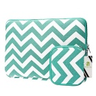 "EPGATE 11.6"" Folk Style Laptop Sleeve Bag + Power Bag - White + Green"