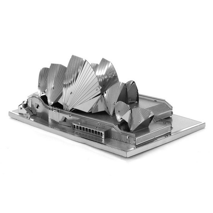DIY 3D Puzzle Assembled Model Toy Sydney Opera House - SilverBlocks &amp; Jigsaw Toys<br>Form  ColorSilverMaterialStainless steelQuantity1 DX.PCM.Model.AttributeModel.UnitNumber3Size10*7.3*4.5cmSuitable Age 5-7 years,8-11 years,12-15 years,Grown upsPacking List3* Model  boards<br>
