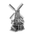 DIY 3D Puzzle Nano Dutch Windmill Assembled Model Toy - Silver