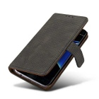 PC + PU Flip Wallet Cover Case for Samsung Galaxy S7 Edge - Black