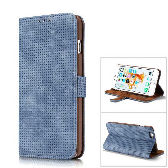 Premium PC + PU Flip Wallet Case for IPHONE 6S / 6 - Blue