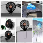 Hat-Prince Outdoor Mini Portable USB Rechargeable Fan w/ Clip - Black