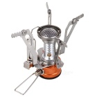 Mini Foldable Outdoor Electronic Ignition Cooking Stove - Silver