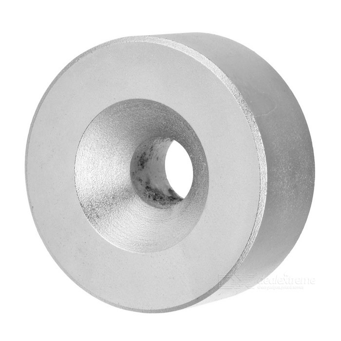 D40*40*20mm Cylindrical NdFeB Magnets w/ 10mm Sink Hole - Silver