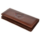 Chinese President Mao Zhedong Portrait Printing PU Wallet - Coffee