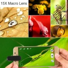 0.36X Wide Angle + 15X Macro Lens for Cell Phones - White + Gold