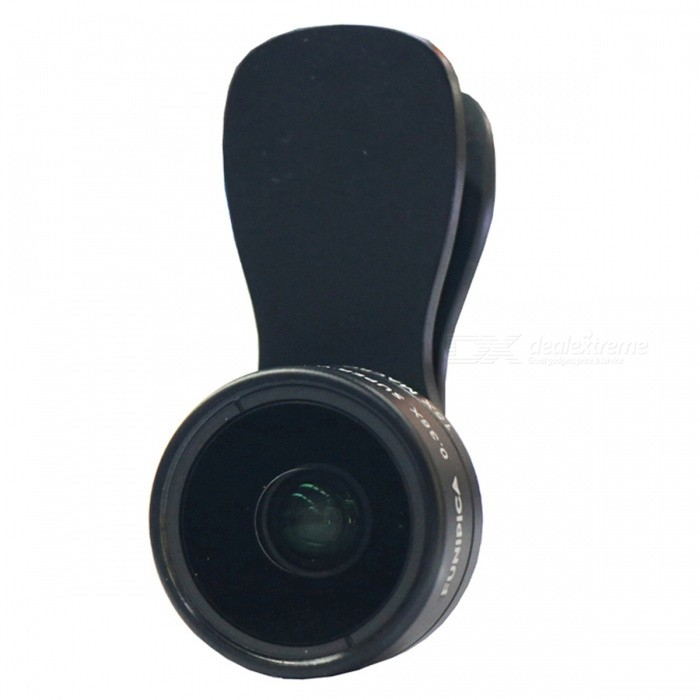 0.36X Wide Angle + 15X Macro Lens for Cell Phones, Tablets - BlackLens &amp; Microscopes<br>Form  ColorBlackQuantity1 DX.PCM.Model.AttributeModel.UnitMaterialAluminum alloy shell + high quality optical glass lensesShade Of ColorBlackCompatible ModelsUniversal, suitable for all phones and tablets.Lens EffectsWide angle,MacroMagnificationOthers,0.36X wide angle + 15X MacroInstallation TypeSpring ClampPacking List1 * Lens combo1 * Clip1 * Bag2 * Lens covers<br>