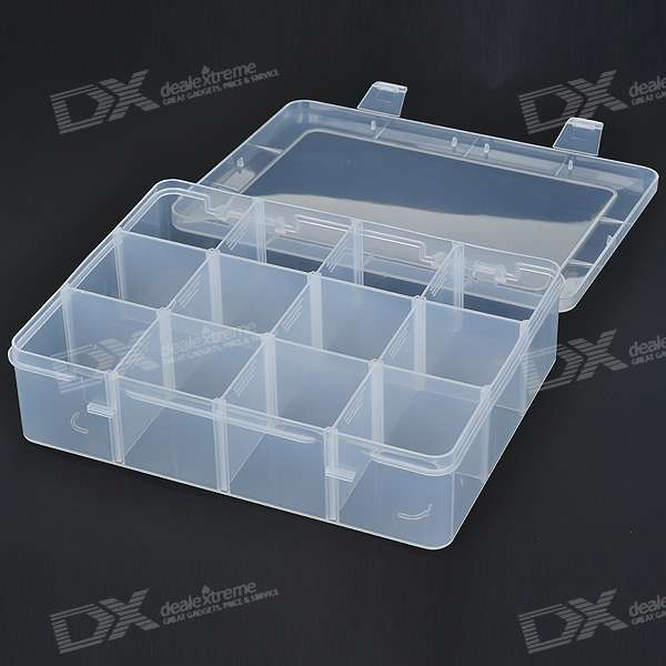 plastic compartment storage box 2