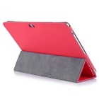 Oracle Bone Pattern Protective PU Case for HUAWEI M2-A10L - Red