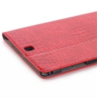 Luxury Crocodile Pattern Leather Case for  Galaxy Tab A 9.7 T550 - Red