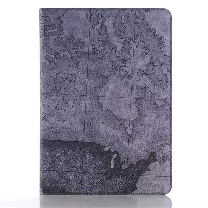 Folio Book Cover World Map Design Case for Samsung Galaxy Tab A 9.7""