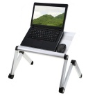 "Portable Folding Aluminum Alloy Holding Stand Support Table Desk for 17"" Laptops"