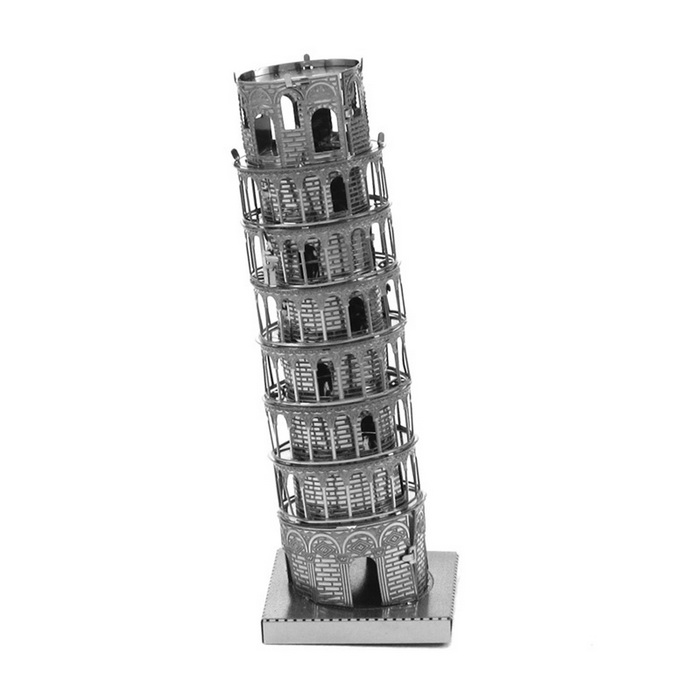 DIY 3D Puzzle Assembled Model Toy Leaning Tower Of Pisa - SilverBlocks &amp; Jigsaw Toys<br>Form  ColorSilverMaterialStainless steelQuantity1 DX.PCM.Model.AttributeModel.UnitNumber1Size6.2*1.2*1.2cmSuitable Age 5-7 years,8-11 years,12-15 years,Grown upsPacking List1 * Model  boards<br>