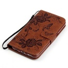 BLCR Butterfly Pattern Case for Samsung Galaxy S7 - Brown