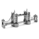 DIY 3D Puzzle Tower Bridge Model Toys Assembled Nano - Silver