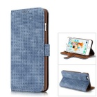 Malla PC + PU flip cartera cubierta caso para IPHONE 6S plus / 6 plus - azul