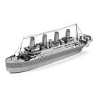 DIY 3D Puzzle Model Assembled Educational Toys Boat - Silver