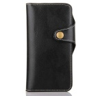 Cow Split Leather Case w/ Card Slot for iPHONE 7 - Black