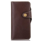 Cow Split Leather Case w/ Card Slot for IPHONE 7 - Dark Brown