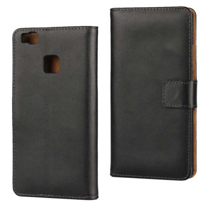 Protective Full Body Split Leather Case for Huawei P9 Lite - BlackLeather Cases<br>Form  ColorBlackModelN/AMaterialSplit leatherQuantity1 DX.PCM.Model.AttributeModel.UnitShade Of ColorBlackCompatible ModelsHUAWEI P9 liteFeaturesAnti-slip,Abrasion resistance,Easy-to-removePacking List1 * Case<br>