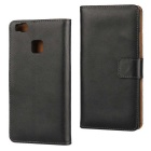 Protective Full Body Split Leather Case for Huawei P9 Lite - Black