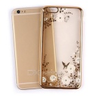 Flowers Patterned TPU Back Case for IPHONE 6 Plus / 6s Plus - Gold