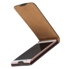 Protective Split Leather Flip-Open Case for Huawei P9 Lite - Black
