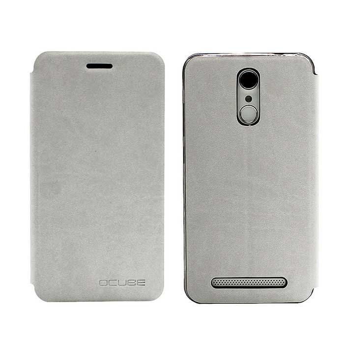 OCUBE PU Leather Case for Homtom HT17 Mobile Phone - White