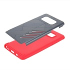 Premium Dual Layer PC + TPU Case for Samsung Galaxy Note7 - Red + Grey