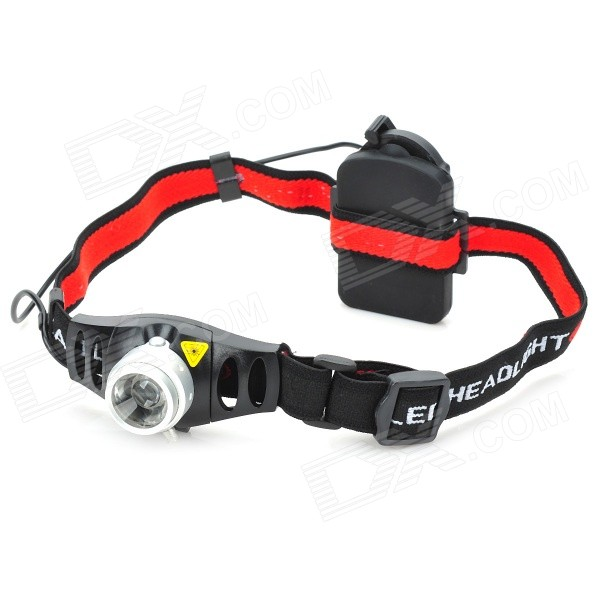 Flood-to-Throw Cree Q3-WC Convex Lens LED Headlamp with Brightness Control (3*AAA)