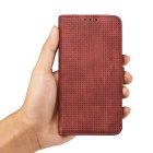 PC + PU Flip Wallet Cover Case for Samsung Galaxy S7 Edge - Red