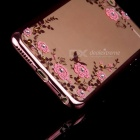 Flowers Patterned TPU Case Cover for IPHONE 6 / 6S - Rose Gold
