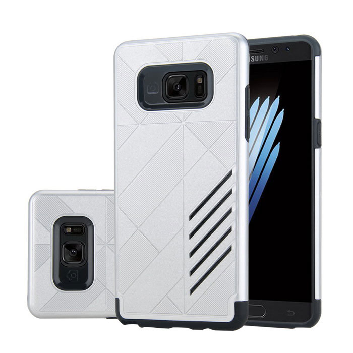 Dual Layer PC + TPU Case for Samsung Galaxy Note 7 - Silver + Black