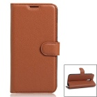 PU Leather Wallet casos w / Card Slots para Xiaomi Redmi Pro-Castanho