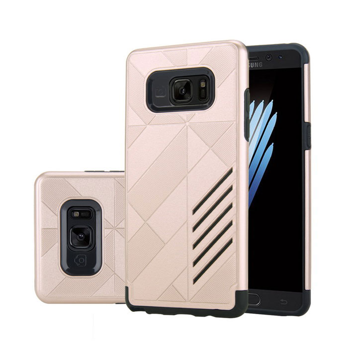 Dual Layer PC + TPU Case for Samsung Note 7 - Black + Gold