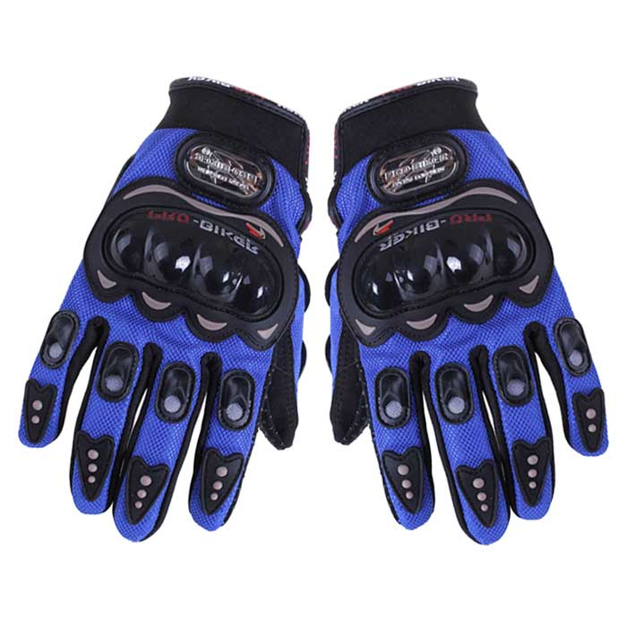 Outdoors Sports Cycling Bicycle Motorcycle Adjustable Fiber + PU Full Finger Gloves (M)