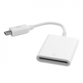 CY Micro USB 2.0 OTG to SD SDXC Card Reader Adapter - White