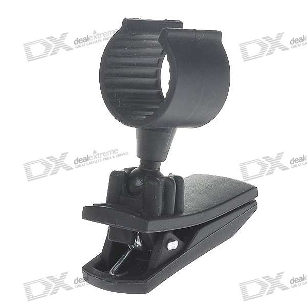 Plastic Swivel Holder with Clip for Flashlight (1.8CM-Diameter)