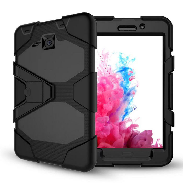 Protective PU Case Cover for Samsung Galaxy Tab A 7.0 T280 / T285Tablet Cases<br>Form ColorBlackQuantity1 DX.PCM.Model.AttributeModel.UnitShade Of ColorBlackMaterialPUCompatible ModelT280Compatible BrandSamsungTypeCases with Stand,Full Body CasesStyleCasualCompatible Size7 inchPacking List1 * Case<br>