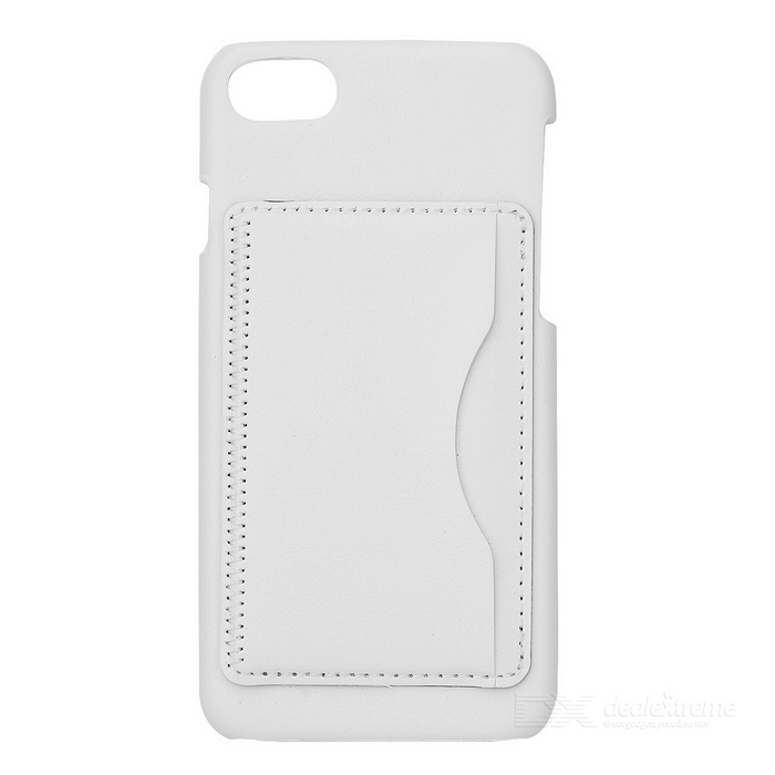 Lychee Pattern Protective PU Back Case for IPHONE 7 - White