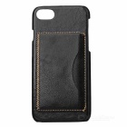 Lychee Pattern Protective PU Back Case for IPHONE 7 - Black