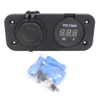 CS-027A1 12~24V Waterproof GPS Power Outlet Conversion w/ Voltmeter