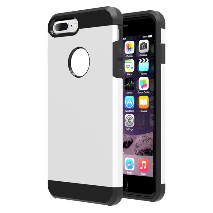Protective Plastic Back Case Cover for IPHONE 7 PLUS - Silver