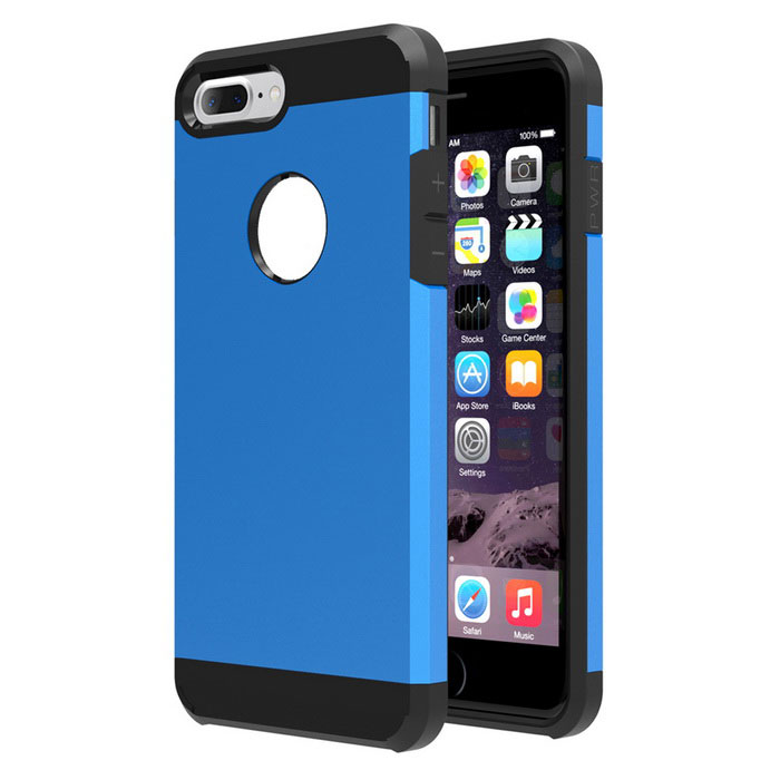 Protective Plastic Back Case Cover for IPHONE 7 PLUS - Deep Blue