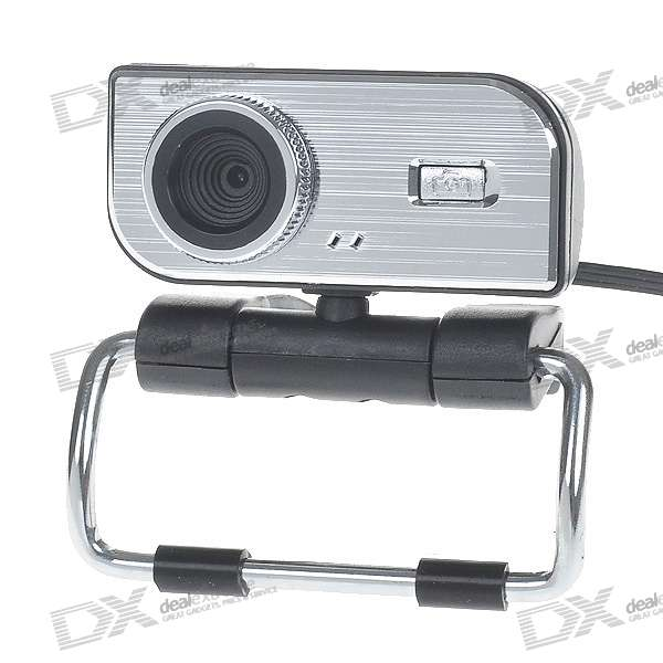 Compact 1.3MP PC USB 2.0 Webcam with Built-in Microphone (Black)