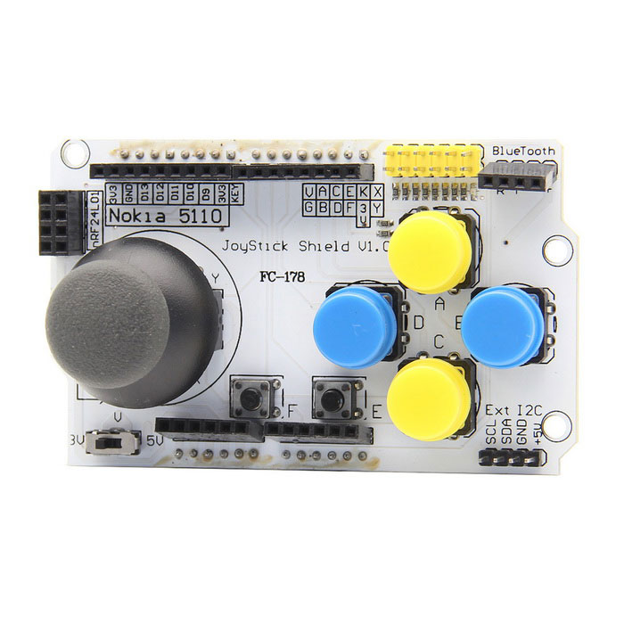 JoyStick Game Joystick Module for Arduino - White + Black