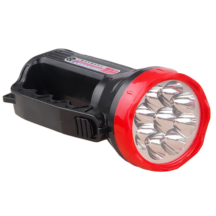 Rechargeable 2-Mode Neutral White Outdoor Portable Searchlight - Black