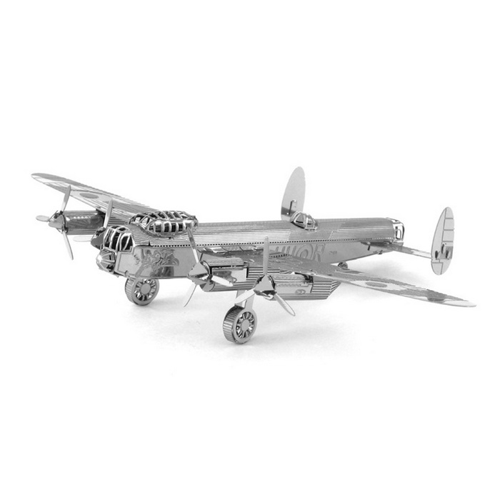 DIY 3D Puzzle Model Assembled Bomber Educational Toys - Silver